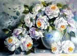 Белые розы купить