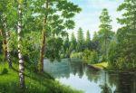 Река в лесу купить