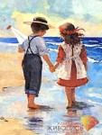 Дети у моря купить