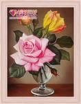 Розы в фужере купить